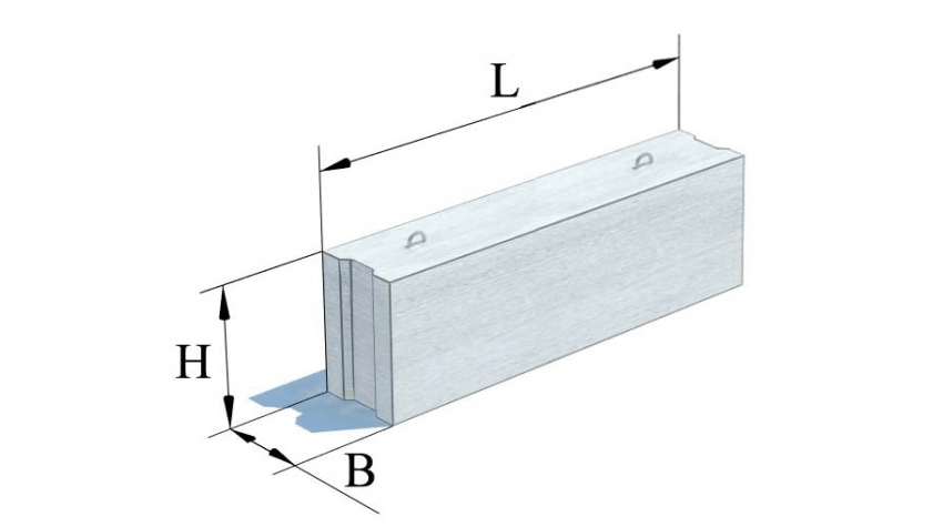 Блоки бетонні для стін підвалів (ГОСТ 13579-78)