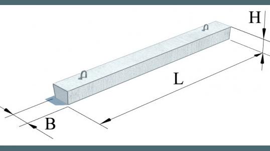 Перемички залізобетонні (Серія 1.038.1-1)