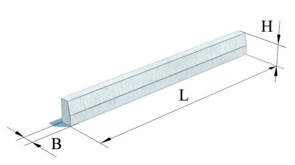 Камені бетонні бортові (ДСТУ Б.В.2.7-237:2010)