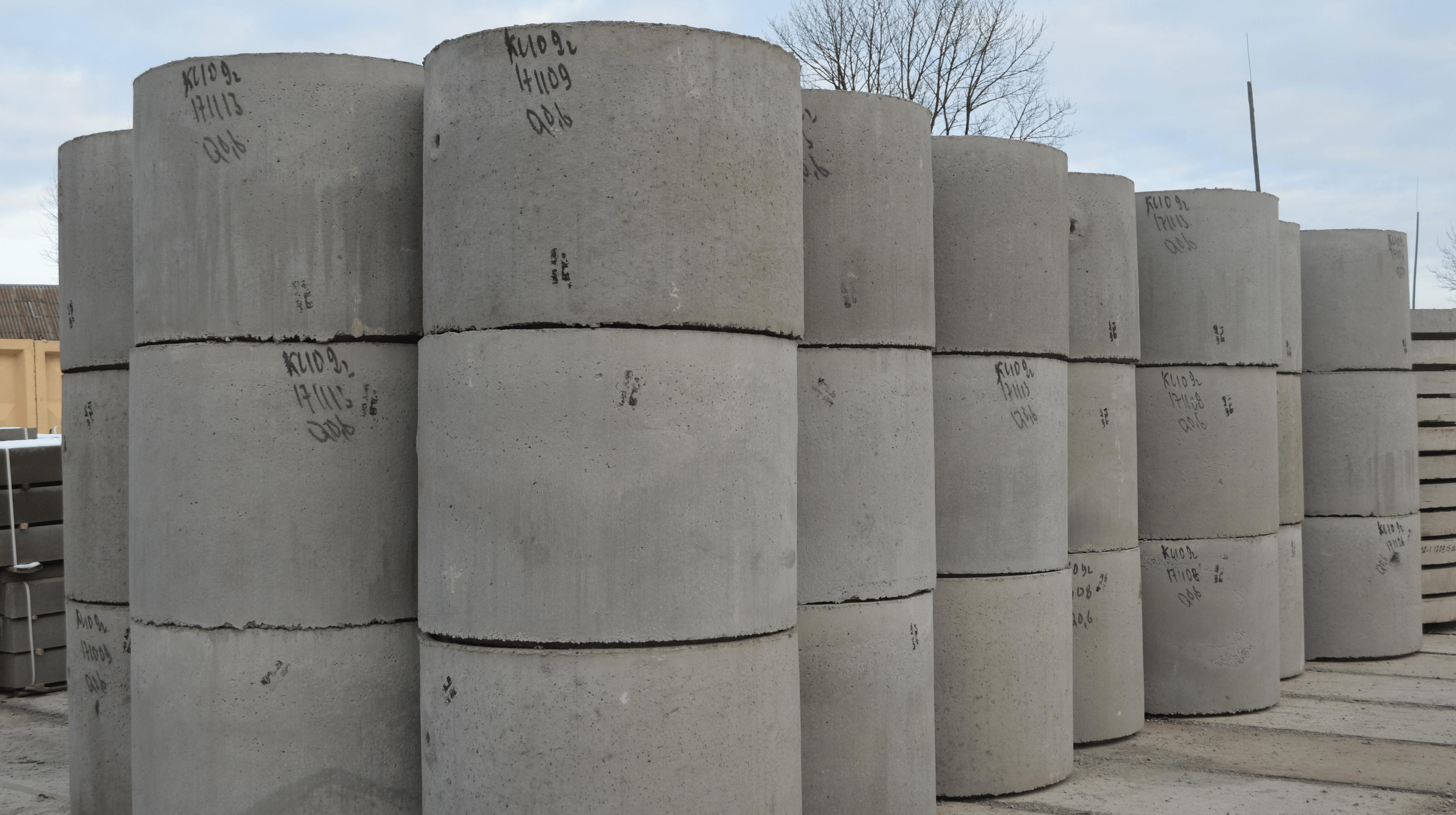 Кільця стінові бетонні з четвертю (Робочі креслення В.03/10/1)
