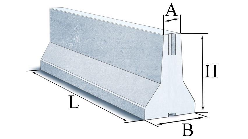Блоки залізобетонні стримуючі огороджень дорожніх парапетного типу (ТУ У 23.6-01267076-001-2018)