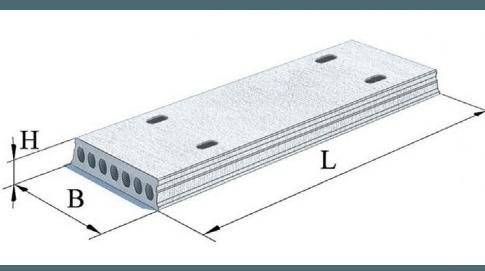 Плити перекриття залізобетонні багатопустотні попередньо напружені шириною 1500 мм і висотою 220 мм. (Шифр 3165-ПЕ-0-1)
