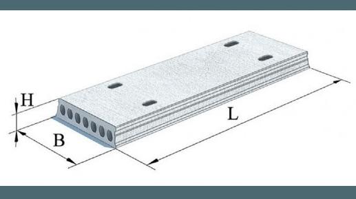 Плити перекриття залізобетонні багатопустотні попередньо напружені шириною 1200 мм. і висотою 320 мм. (Шифр 211-ПЕ-0-2)