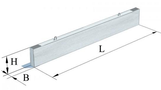 Прогони залізобетонні прямокутного перерізу  (Серія 1.225-2)