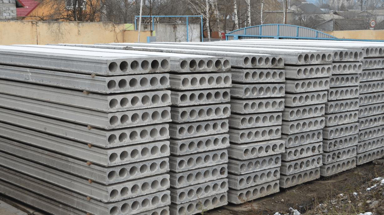 Плити перекриття залізобетонні багатопустотні попередньо напружені шириною 1200 мм і висотою 220 мм.  (Шифр 1105-ПЕ-0-1)