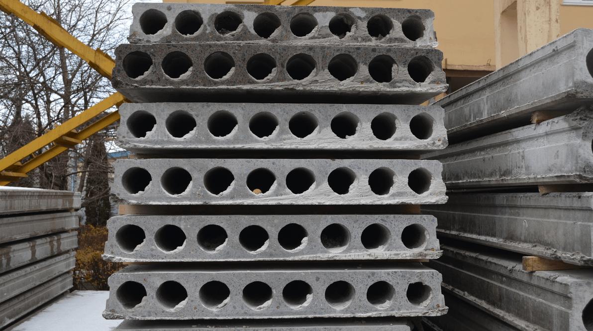 Плити перекриття залізобетонні багатопустотні попередньо напружені шириною 1200 мм і висотою 160 мм.