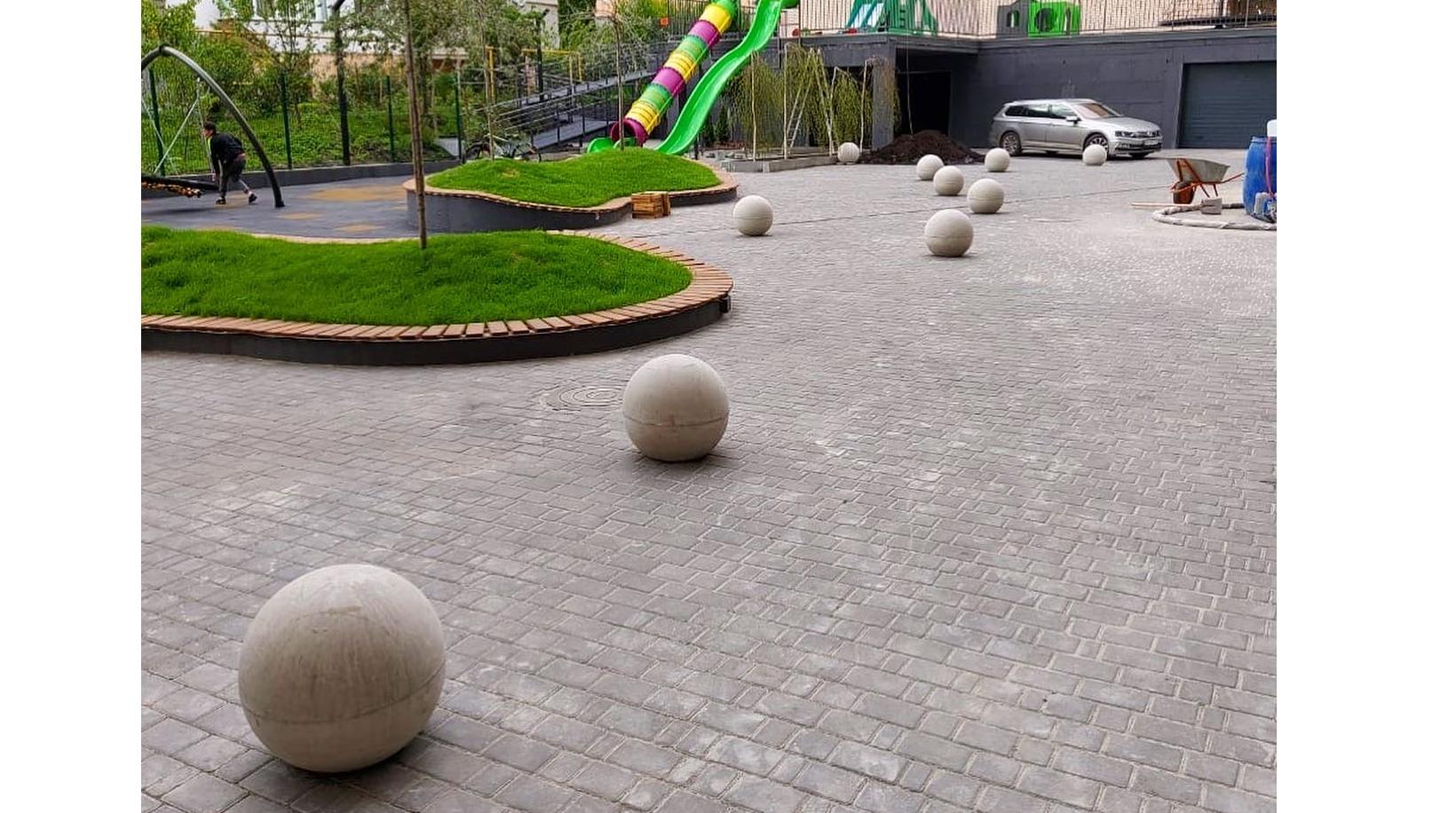 Антипарковочні куля та напівсфера з бетону